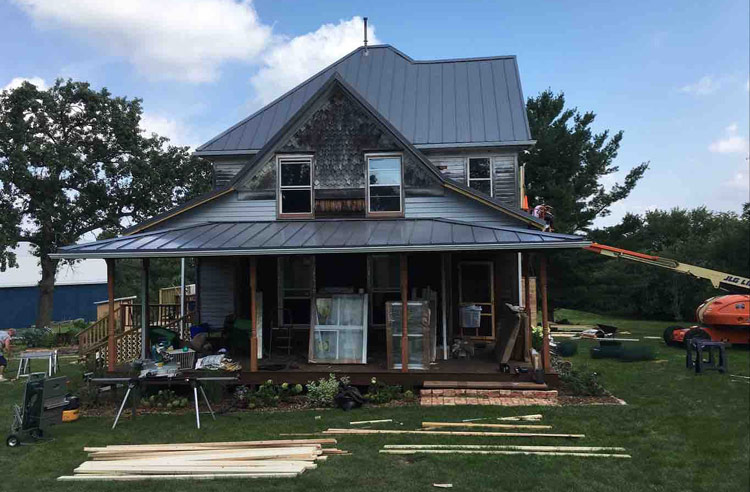 Exterior Rebuild With New Metal Roof Belleville Wi
