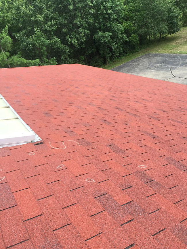 damage inspection on roof