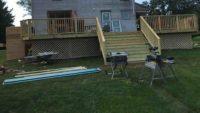 Huge deck put on old farm house