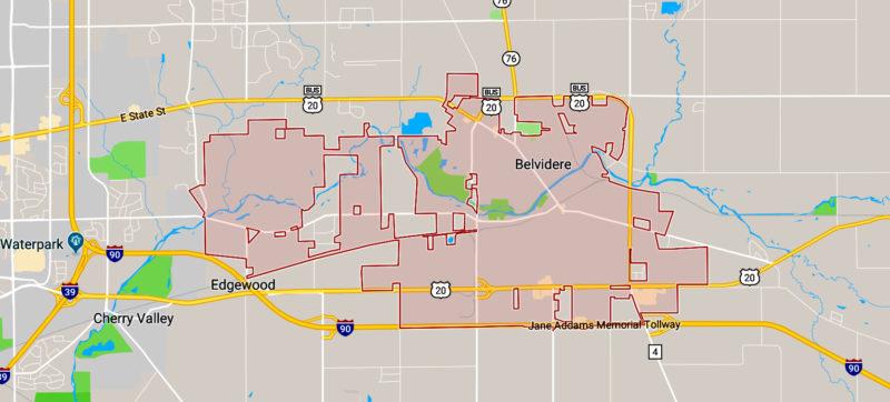 belvidere Wisconsin map
