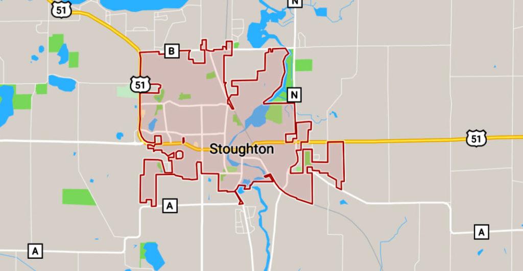 stoughton map