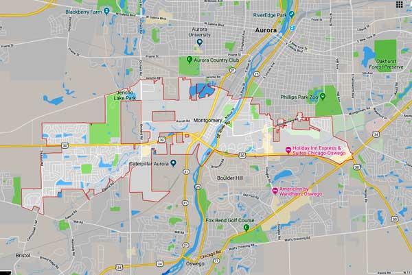 map of montgomery illinois