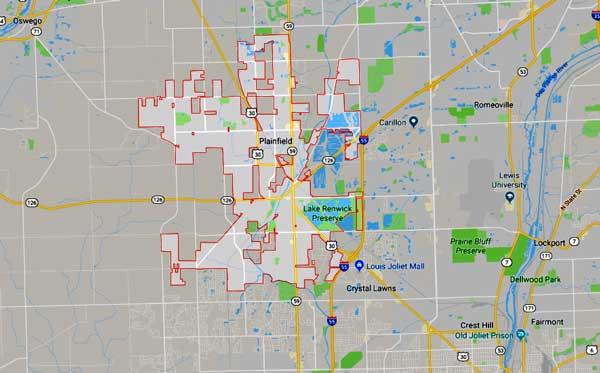 plainfield Illinois map