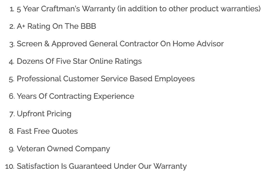 Batavia IL Storm Damage Insurance warranty