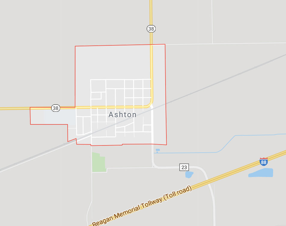 ashton Illinois map