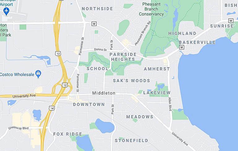 Middleton Wisconsin Map