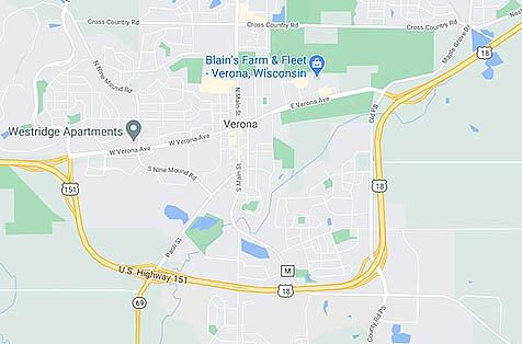 Verona WI Map