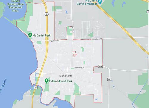 Mc Farland area map