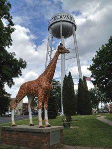 Delavan WI Water Tower and Giraffe